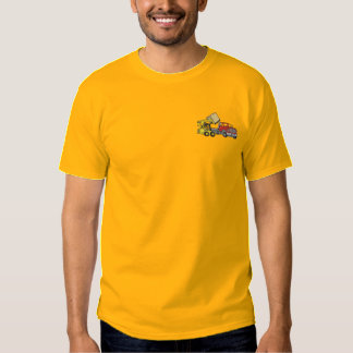 Camiseta Bordada Buey de la resbalón con el camión