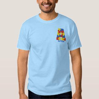 Camiseta bordada de la conciencia del autismo