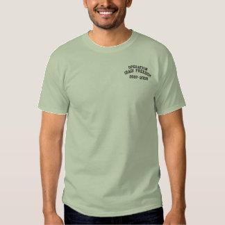 Camiseta Bordada Libertad iraquí OIF militar de la operación