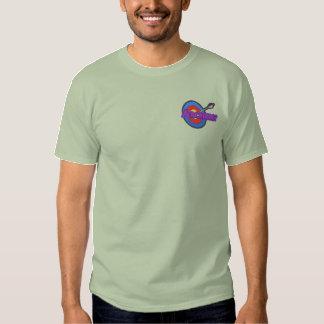 Camiseta Bordada Logotipo del tiro al arco