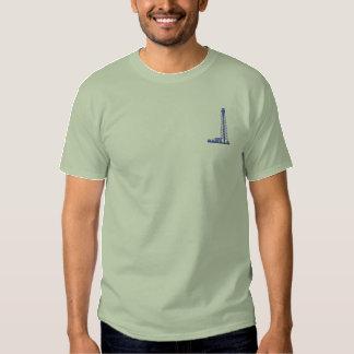 Camiseta Bordada Torre de perforación de aceite