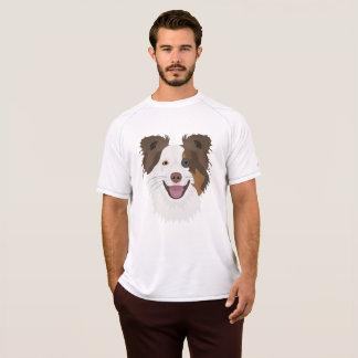 Camiseta Border collie feliz de la cara de los perros del