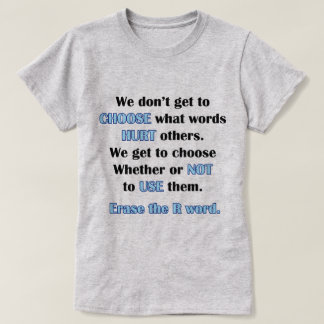 Camiseta Borre la palabra de R