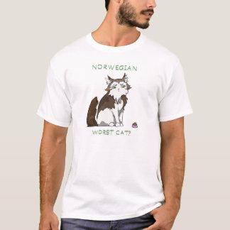 Camiseta ¿Bosque noruego - el gato peor?