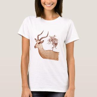 Camiseta Bosquejo del dibujo del antílope del impala