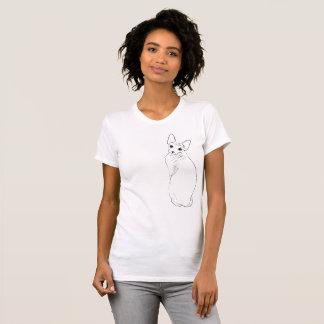 Camiseta Bosquejo del gato de Sphynx