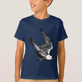 Camiseta Bosquejo del halcón de peregrino