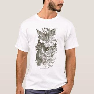 Camiseta Bosquejo nuevo gráfico del lápiz de Batman