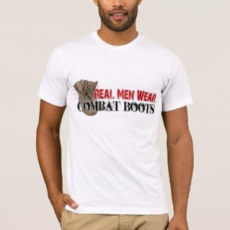 Camiseta Botas de combate reales del desgaste de hombres