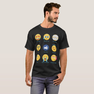 Camiseta Brazillian Jiu-jitsu 9 Emoticons de las sombras