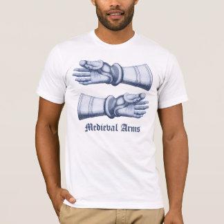 Camiseta Brazos y armadura medievales - manos en