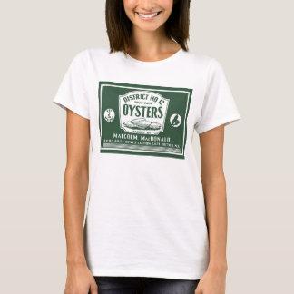 Camiseta bretona de la etiqueta de las ostras del