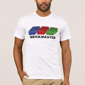 Camiseta Brickmaster divertido - arte pop del vector