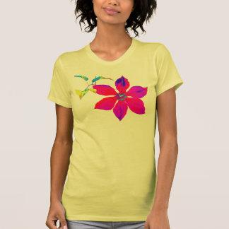 Camiseta brillante del Clematis - manga larga