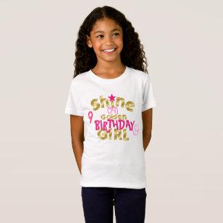 Camiseta Brillo en chica del cumpleaños