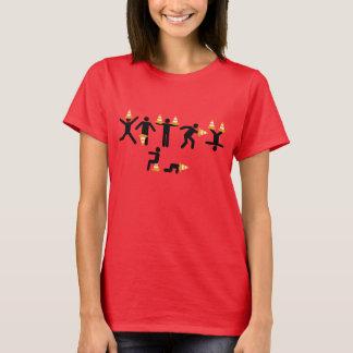Camiseta Bromas típicas de los conos del tráfico por