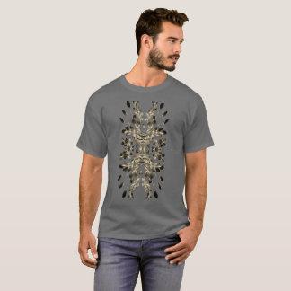 Camiseta Broncee el adorno de la hoja en los tamaños extra