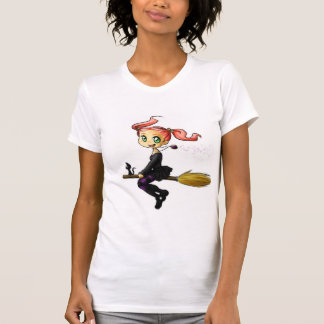 Camiseta Bruja y gatito