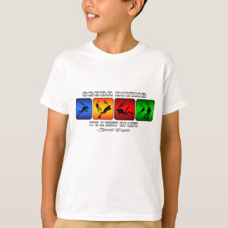 Camiseta Buceo con escafandra fresco es una manera de vida