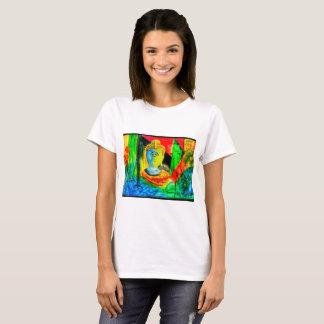 Camiseta Buda abstracto