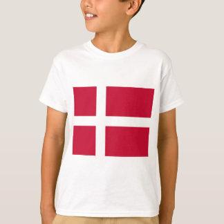 Camiseta Buena impresión de la bandera de Dinamarca del
