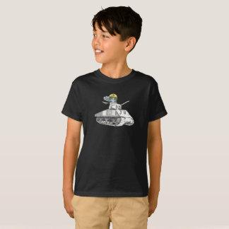 Camiseta Búho de la batalla del tanque listo para la acción