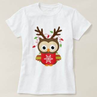 Camiseta Búho del navidad
