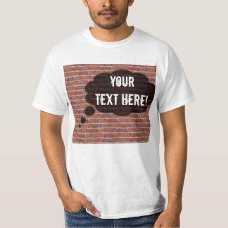 Camiseta Burbuja del pensamiento de la pared de ladrillo