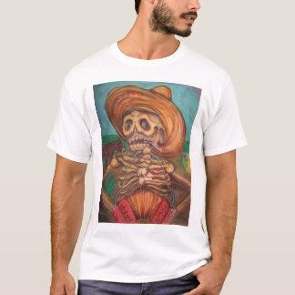 Camiseta burro del acordeón y de la estafa del skeleto