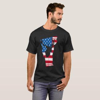 Camiseta Búsqueda de los ciervos de Vermont de la bandera