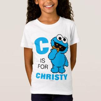 Camiseta C está para el monstruo de la galleta que los  