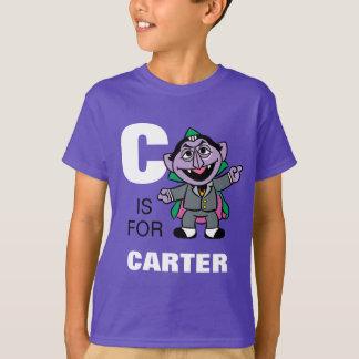 Camiseta C está para la cuenta von Count que los   añaden