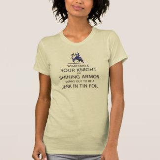 Camiseta Caballero en armadura brillante