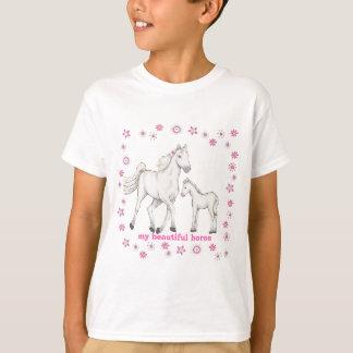 "Camiseta Caballo blanco - ""mi caballo hermoso """