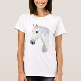 Camiseta Caballo de neón colorido geométrico