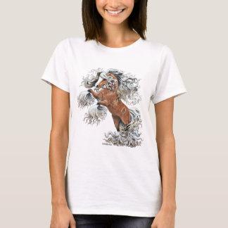Camiseta caballo de oro de la fantasía