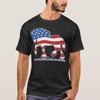 Camiseta Caballo de proyecto gigante apacible patriótico