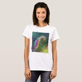 Camiseta Caballo Painterly que mira en piscina
