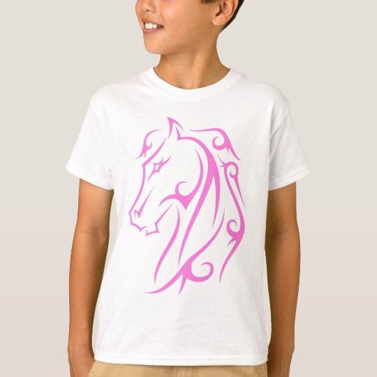 Camiseta Caballo rosado