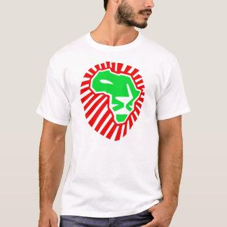 Camiseta Cabeza del león este vez para África. Rojo verde