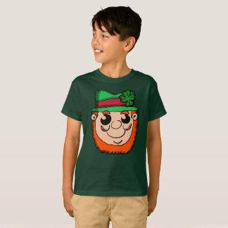 Camiseta Cabeza del Leprechaun del dibujo animado