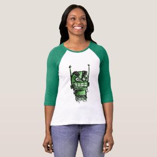 Camiseta Cabeza enojada de Sketchbot (verde)
