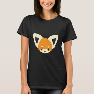 Camiseta Cabeza linda de la panda roja