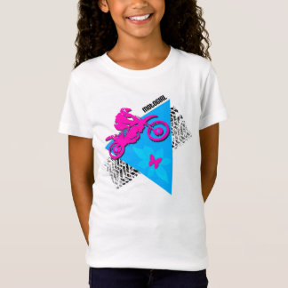 Camiseta cabida de la muñeca del chica de MotoGirl
