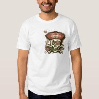 Camiseta cabida del pirata de los hombres