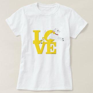 Camiseta Cabra AMARILLA L O V E - cabra blanca del AMANTE