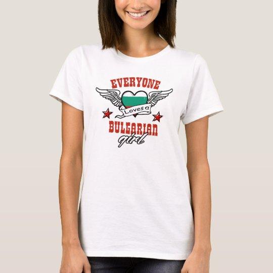Camiseta Cada uno ama a un chica búlgaro