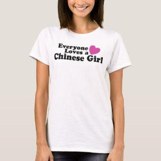 Camiseta Cada uno ama a un chica chino