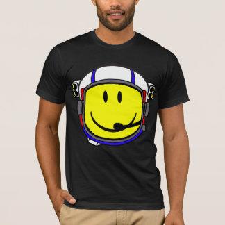 Camiseta Cadete sonriente del espacio de la cara