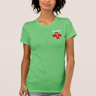 Camiseta Caduceo Rod de la enfermera de Asclepius